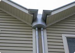 Great box gutter finish on roof