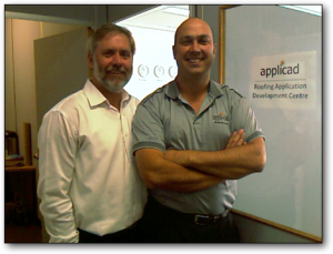 Image of AppliCad's Managing Director, Ray Smith and Development Manager, Leigh Menzel