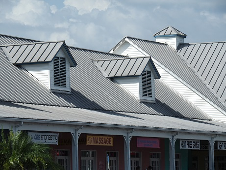 The image shows a standing seam metal roof, image copyright www.applicad.com