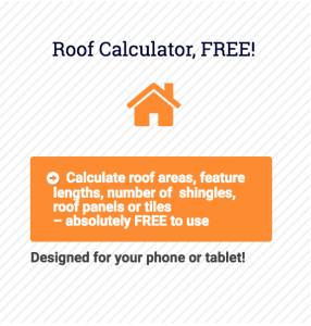 The image shows the new Roof Calculator app portal on our www.applicad.com website