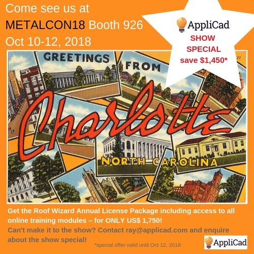 AppliCad has show specials at METALCON18