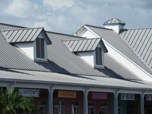 Metal roofing is compelling. Image shows a metal roof in Tampa, Florida.